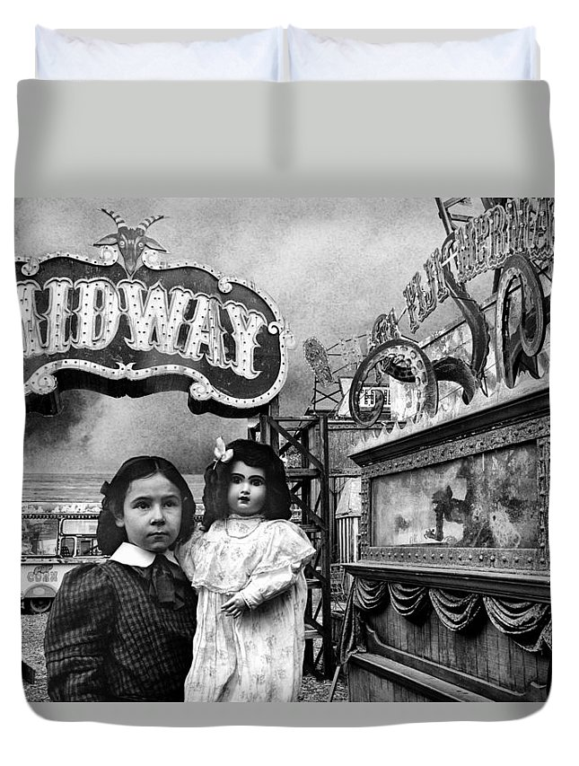 Midway Duvet Cover featuring the photograph Midway by Dominic Piperata