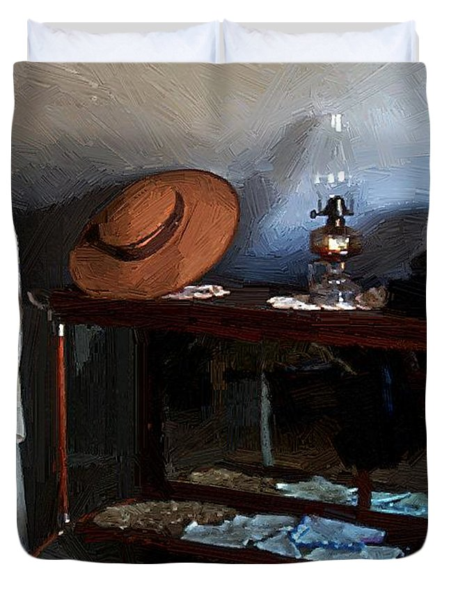 Fashion Duvet Cover featuring the painting Milady's Finery by RC DeWinter