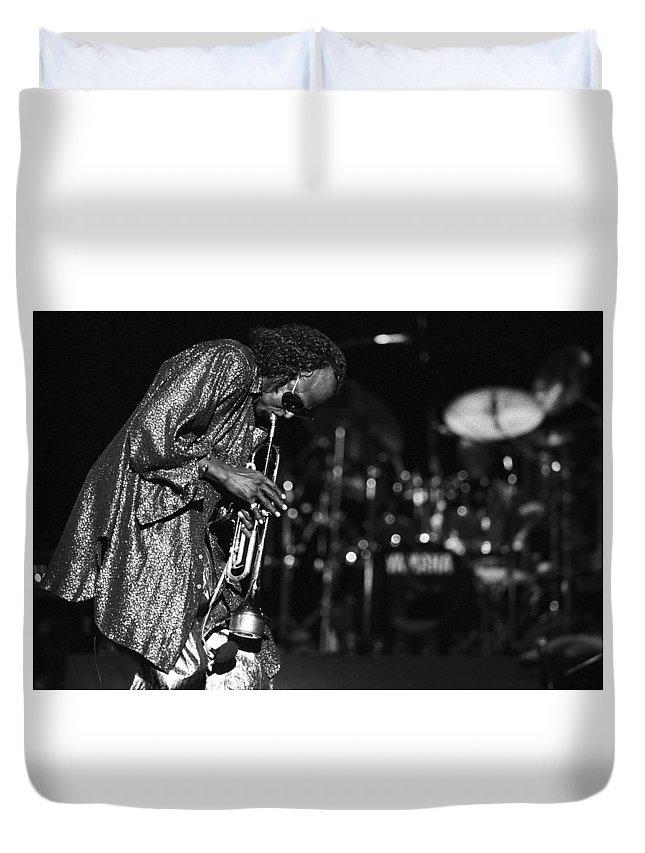 Miles Davis Duvet Cover featuring the photograph Miles Davis 1 by Dragan Kudjerski