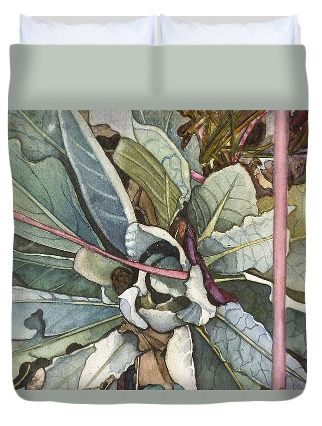 Milkweed Duvet Cover featuring the painting Milkweed by Shara Wright