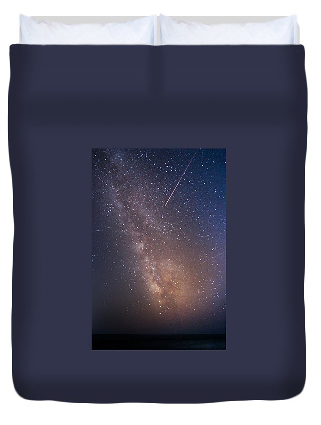 Majestic Duvet Cover featuring the photograph Milky Way by Luca Libralato Photography