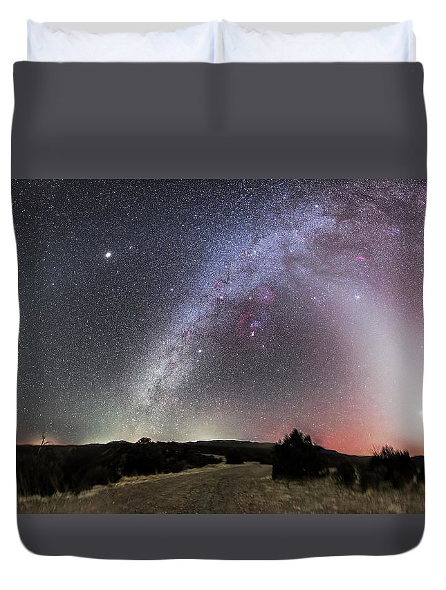 Canis Major Duvet Cover featuring the photograph Milky Way, Zodiacal Light And Other by Alan Dyer