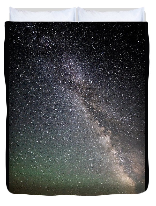 Milkyway Over Stonehenge Duvet Cover featuring the photograph Milkyway Over Stonehenge by Wes and Dotty Weber