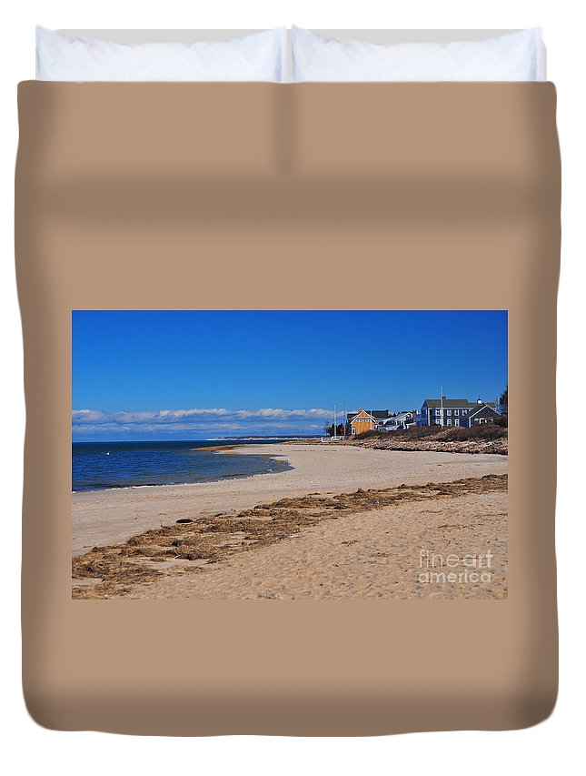 Millway Beach Duvet Cover featuring the photograph Millway Beach by Catherine Reusch Daley