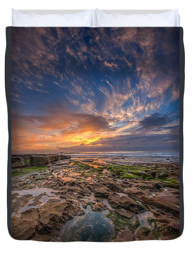 Beach Duvet Cover featuring the photograph Mimic by Peter Tellone