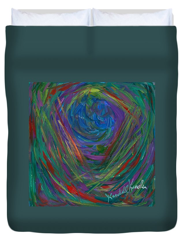 Center Of My Mind Duvet Cover featuring the painting Mind Journey by Kendall Kessler