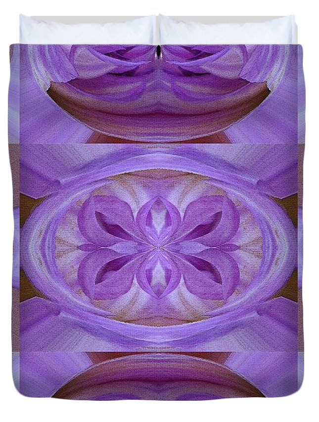 Mccombie Duvet Cover featuring the painting Mingus Randy Abstract by J McCombie