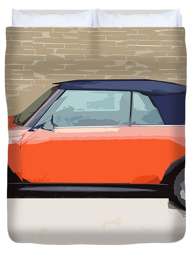 Mini Duvet Cover featuring the digital art Mini Makeover by Bruce Stanfield