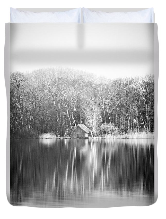 Duvet Cover featuring the photograph Mirroring House Portrait by Ralf Kaiser