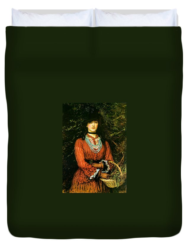 Portrait Duvet Cover featuring the painting Miss Eveleen Tennant by Philip Ralley