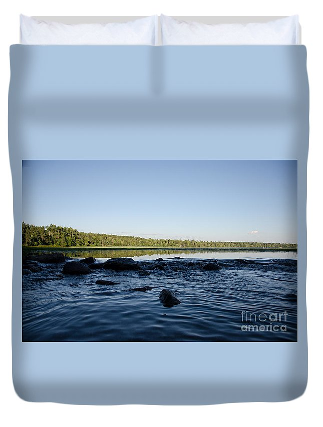 Itasca Duvet Cover featuring the photograph Mississippi Headwater And Lake Itasca by Cassie Marie Photography
