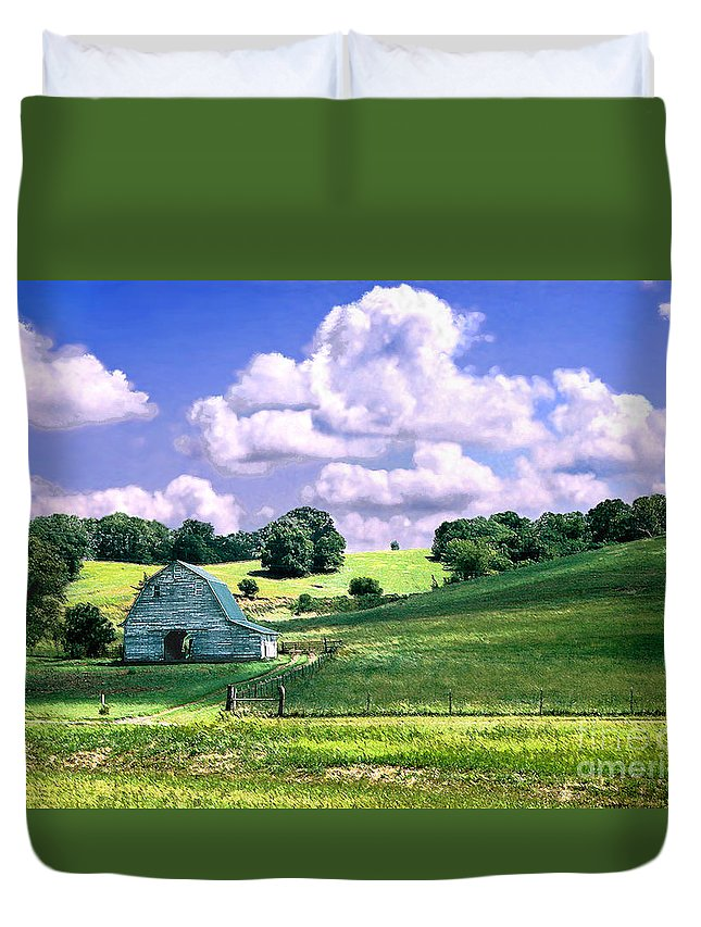 Landscape Duvet Cover featuring the photograph Missouri River Valley by Steve Karol