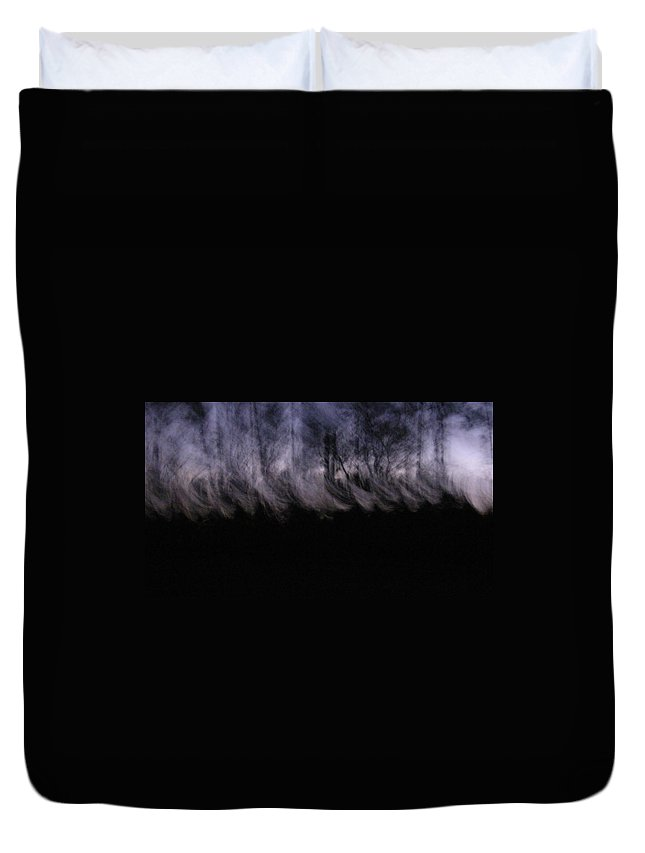 Mist Trees Forest Mystical Duvet Cover featuring the photograph Mist Of The Forest by John Wall