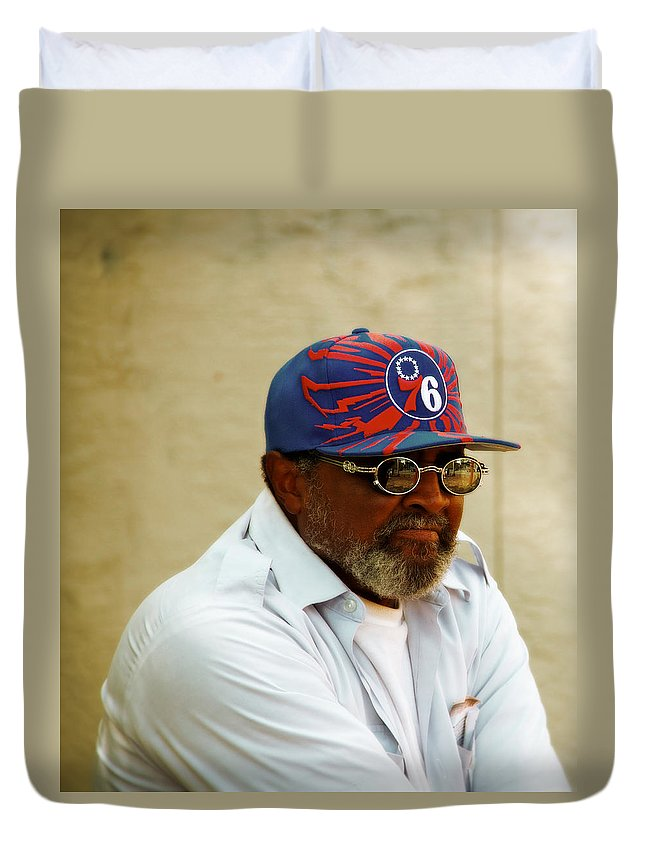 Germantown Duvet Cover featuring the photograph Mister by Alice Gipson