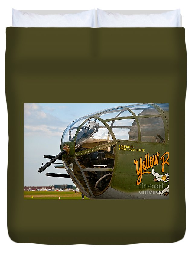 Airplane Duvet Cover featuring the photograph Mitchell Bomber by Stephen Whalen
