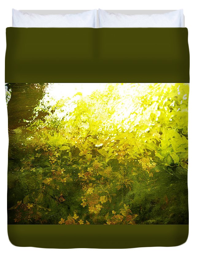 Nature Duvet Cover featuring the painting Painted Garden by Joel Zimmerman