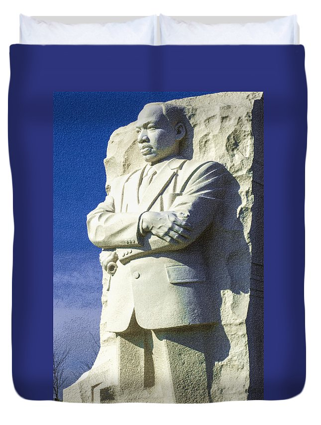 District Of Columbia Duvet Cover featuring the photograph Mlk 5211 Colored Photo 1 by David Lange