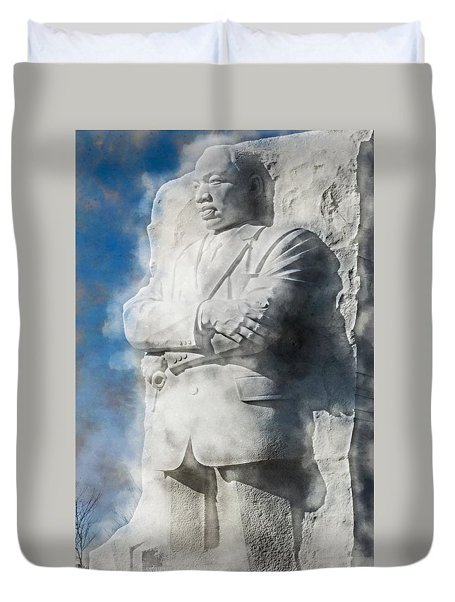District Of Columbia Duvet Cover featuring the digital art Mlk 5211 Fluid Pigments Hp by David Lange