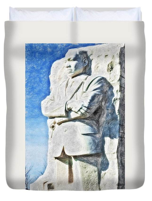 District Of Columbia Duvet Cover featuring the digital art Mlk 5211 Synchro Hp by David Lange
