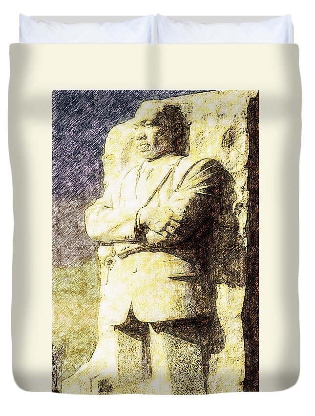 District Of Columbia Duvet Cover featuring the digital art Mlk 5211 Tinted Copper by David Lange