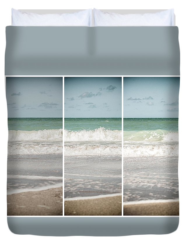 Beach Duvet Cover featuring the photograph Modern Beach Tryptych by Lisa Russo