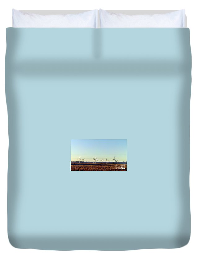 Modern Blinding Power A Duvet Cover featuring the photograph Modern Blinding Power A by Feile Case