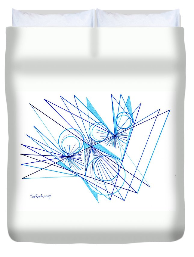 Modern Drawing Duvet Cover featuring the drawing Modern Drawing Eighty-eight by Lynne Taetzsch