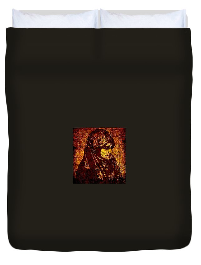 Madonna Duvet Cover featuring the painting Modern Madonna by Nikki Keep
