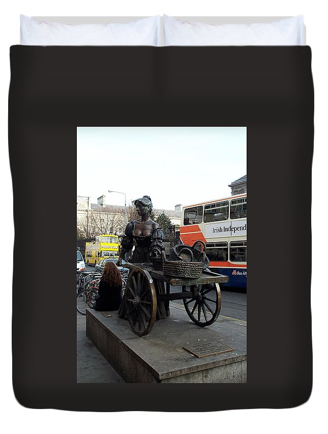 Molly Malone Duvet Cover featuring the photograph Molly Malone by Barbara McDevitt