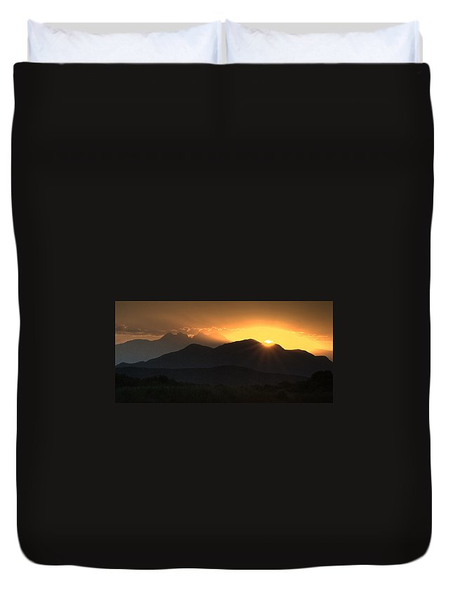 Sunrise Duvet Cover featuring the photograph Moment Of Truth by Tam Ryan