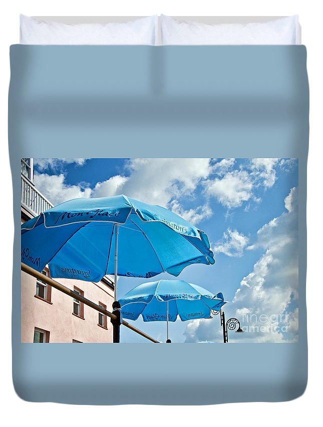 Mon Glac Duvet Cover featuring the photograph Mon Glace by Susie Peek