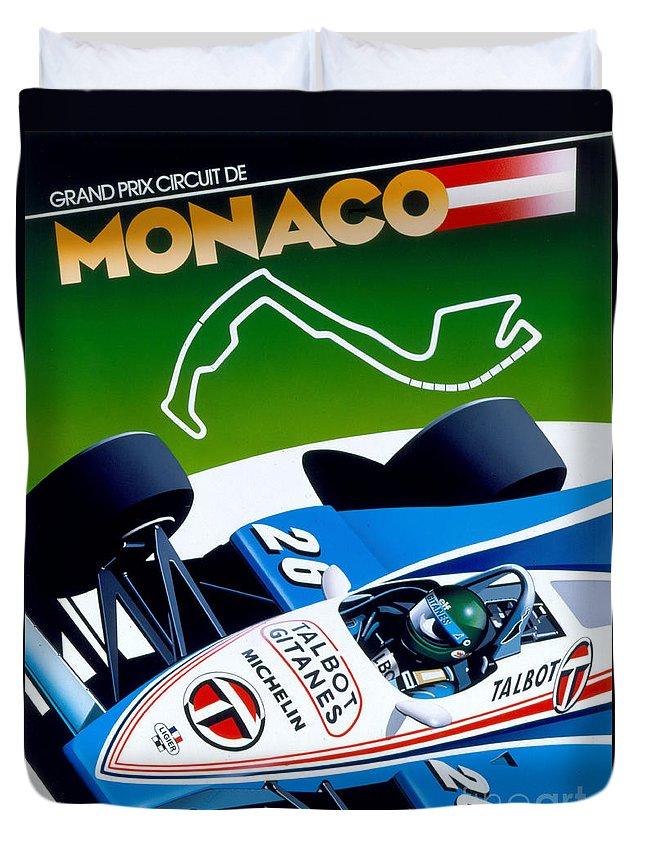80's Duvet Cover featuring the digital art Monaco by Gavin Macloud