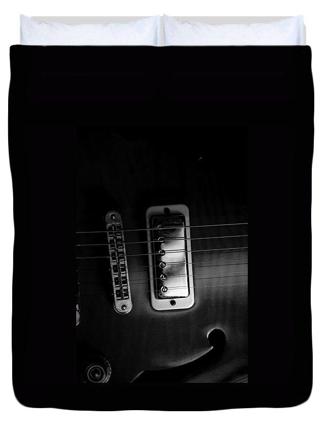 Yamaha Duvet Cover featuring the photograph Monochrome Yamaha 2 by David Weeks