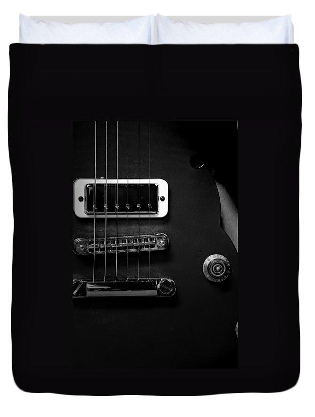 Yamaha Duvet Cover featuring the photograph Monochrome Yamaha 3 by David Weeks