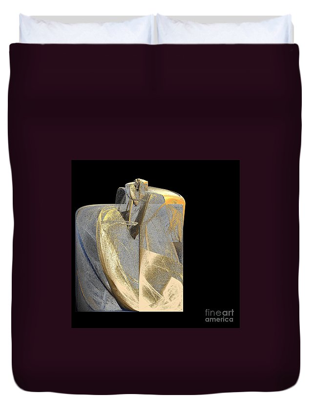 Duvet Cover featuring the digital art Monolith By Jammer by First Star Art