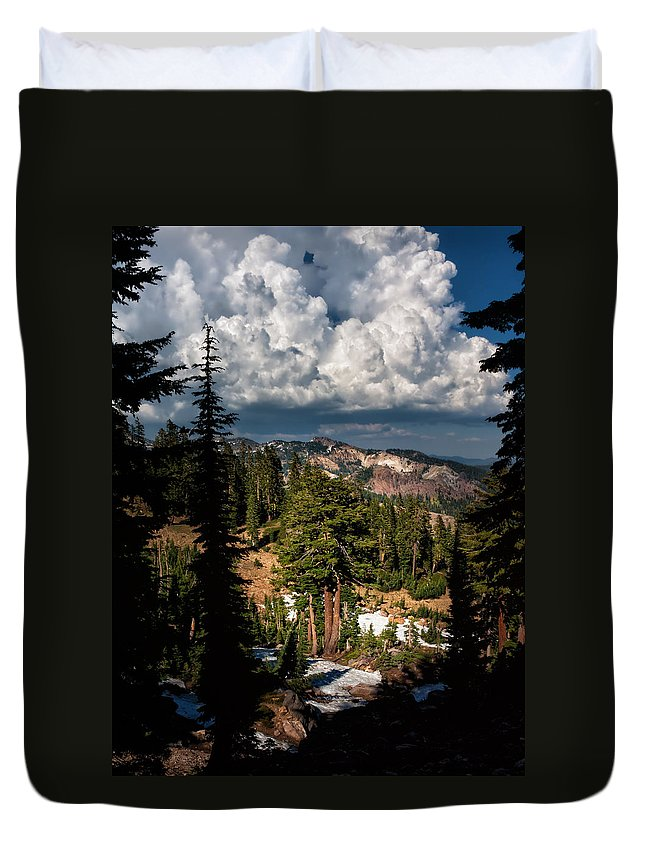 Mountain Scenery Duvet Cover featuring the photograph Monsoon Thunderhead by Kathleen Bishop
