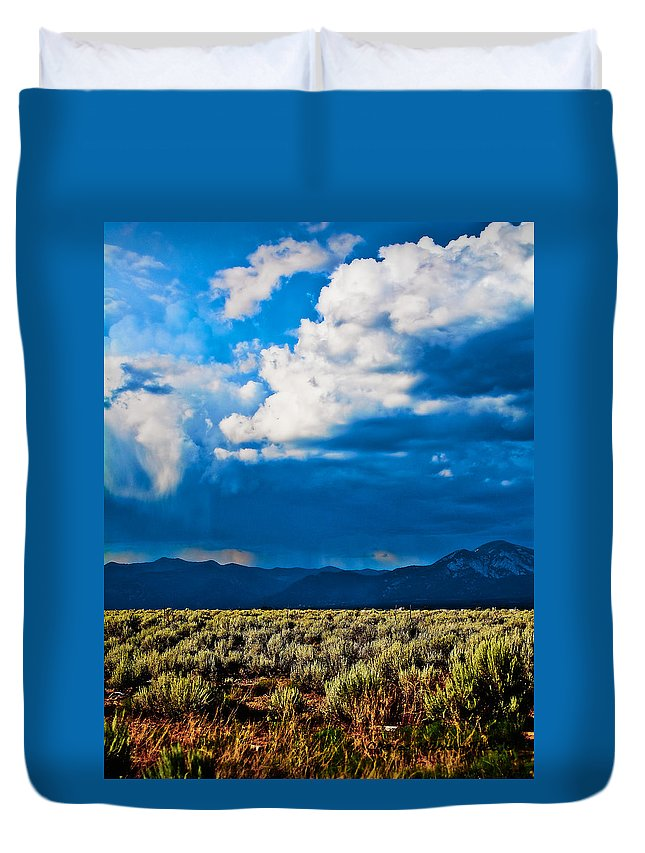 Santa Duvet Cover featuring the photograph Monsoons In July by Charles Muhle