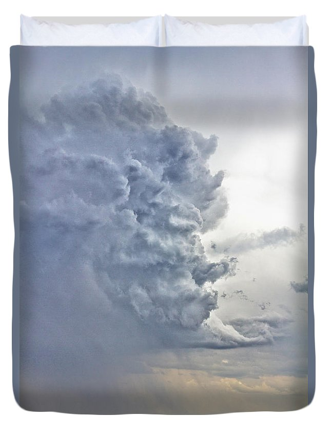 Country Duvet Cover featuring the photograph Monster Cloud Country by James BO Insogna