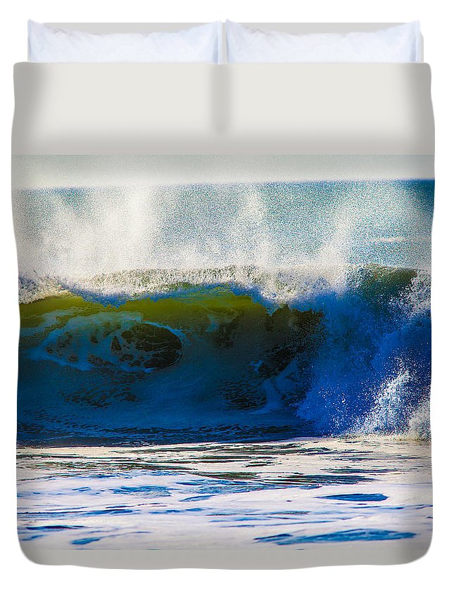 Waves Duvet Cover featuring the photograph Monster Waves by Brian Williamson