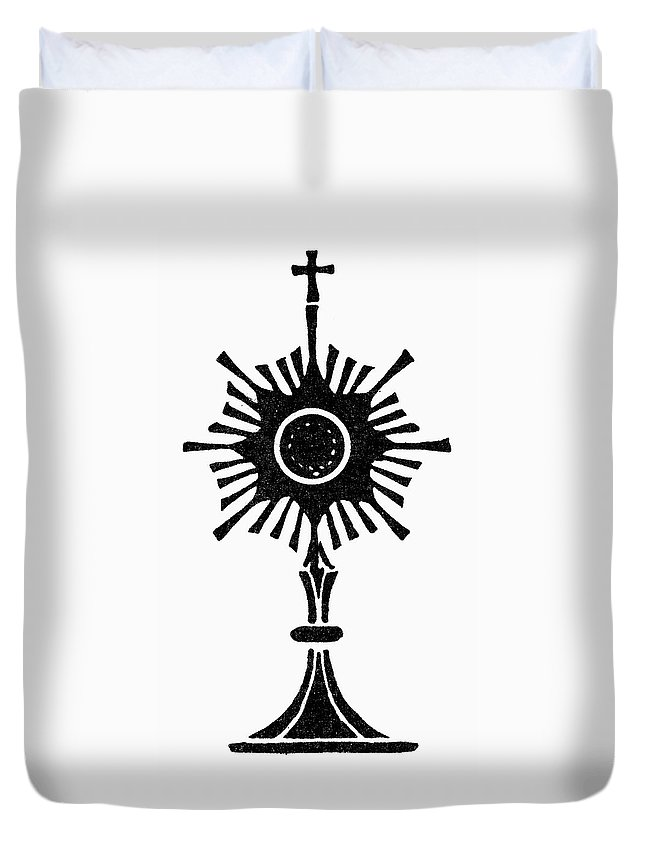 Catholic Duvet Cover featuring the painting Monstrance by Granger
