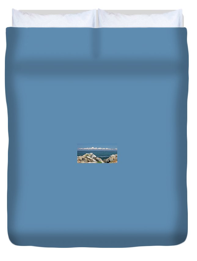 Landscape Duvet Cover featuring the photograph Monterey Beach by Guy Whiteley