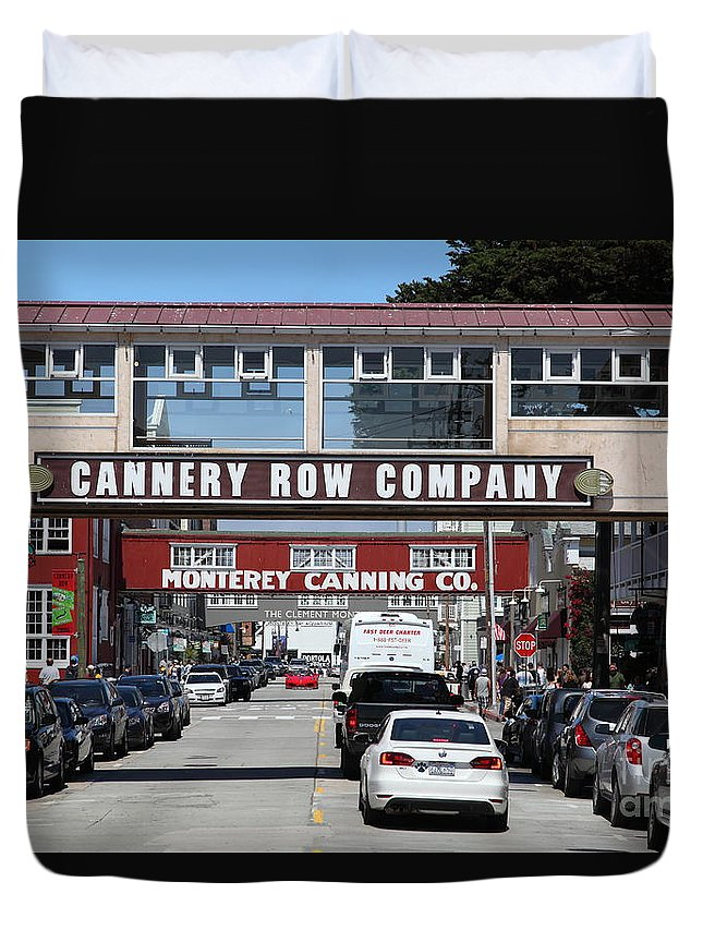 Monterey Duvet Cover featuring the photograph Monterey Cannery Row California 5d25034 by Wingsdomain Art and Photography