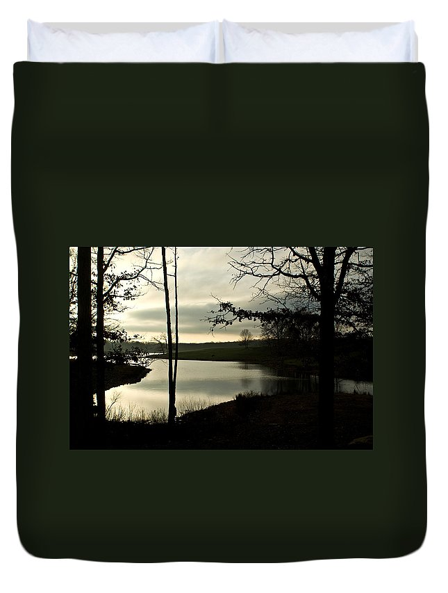 Monterey Duvet Cover featuring the photograph Monterey Silver Lake by Douglas Barnett