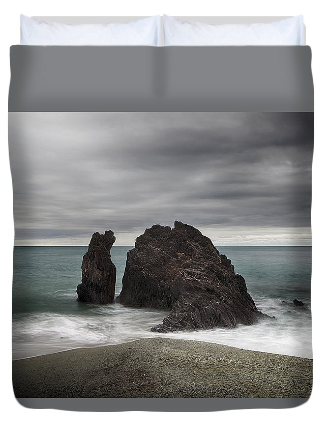 Monterosso Al Mare Duvet Cover featuring the photograph Monterosso by Joana Kruse