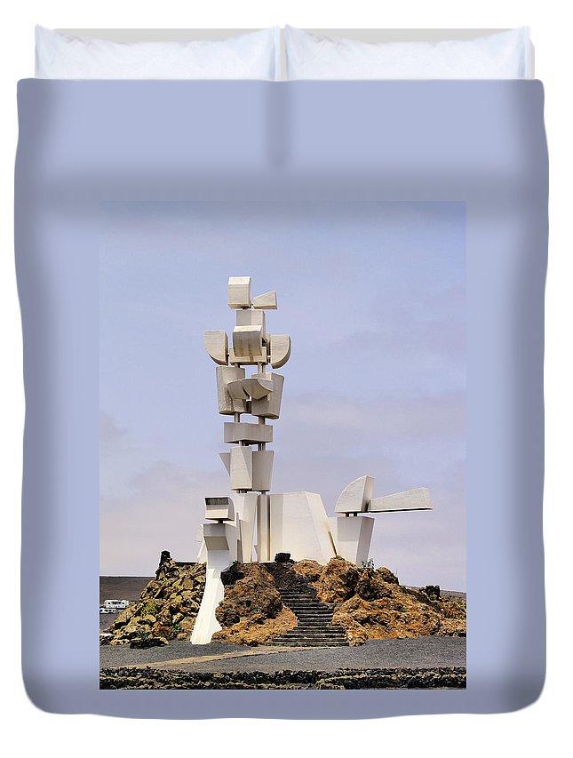 Manrique Duvet Cover featuring the photograph Monumento Al Campesino On Lanzarote by Karol Kozlowski
