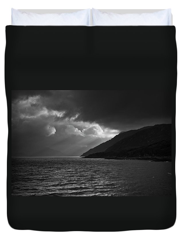 Scenics Duvet Cover featuring the photograph Moody Scottish Weather by Charles Briscoe-knight