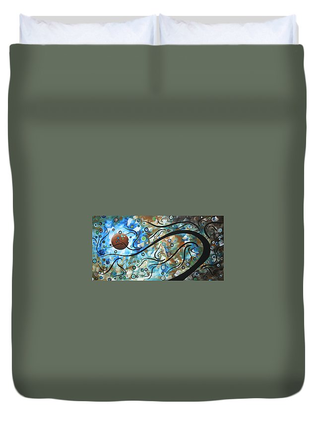 Art Duvet Cover featuring the painting Moon Spell By Madart by Megan Duncanson