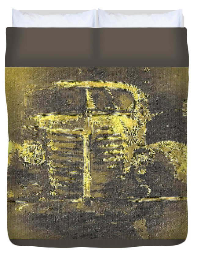 Moon Duvet Cover featuring the photograph Moonlight At El Prado by Terry Fiala