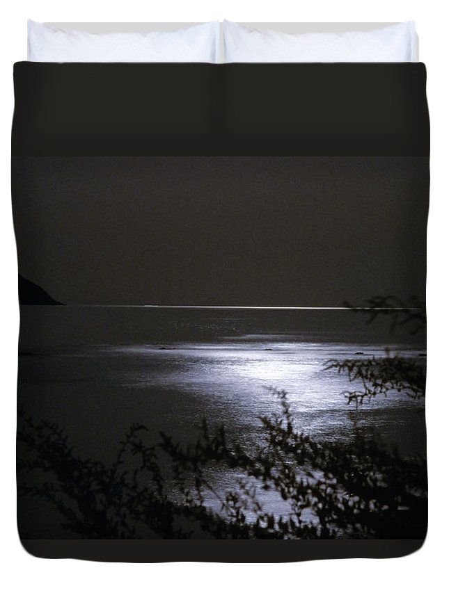 Night Duvet Cover featuring the photograph Moonlight Reflection by Patrick Kessler