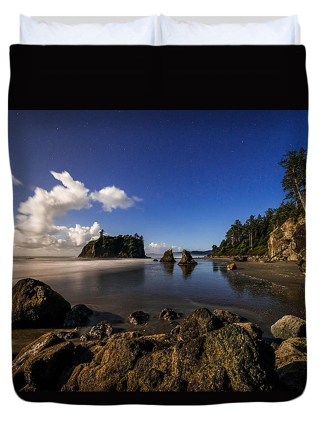 Moonlit Ruby Duvet Cover featuring the photograph Moonlit Ruby by Chad Dutson